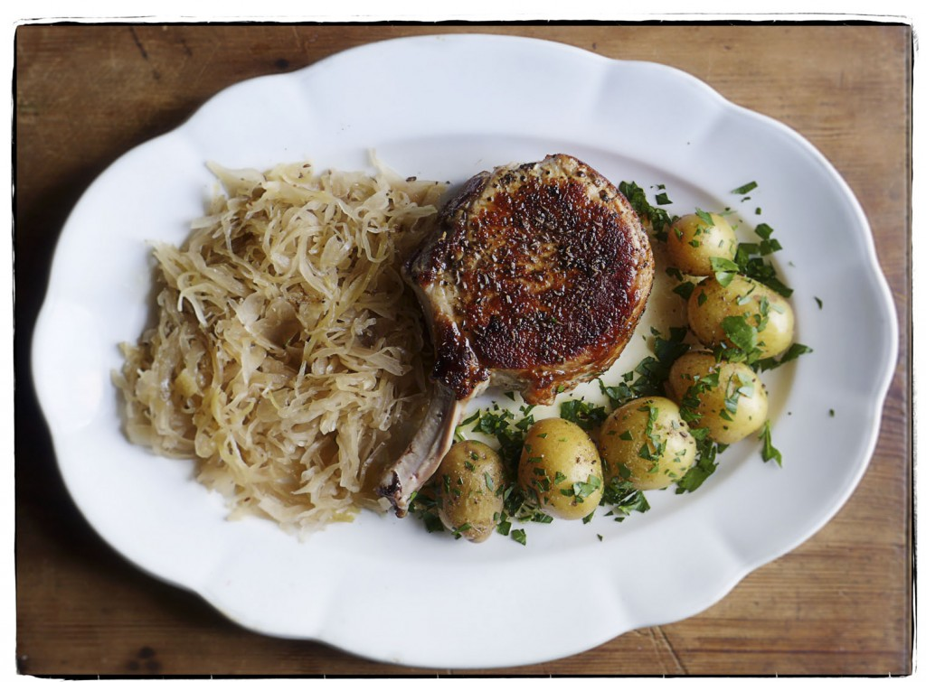pork chop and sauerkraut